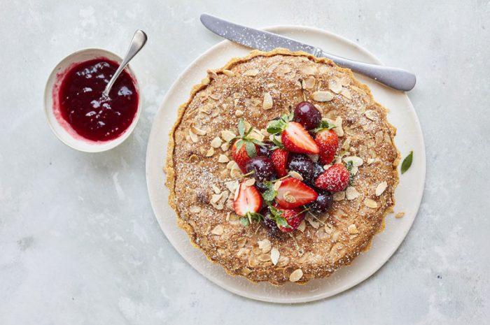 cherry-and-raspberry-bakewell-tart